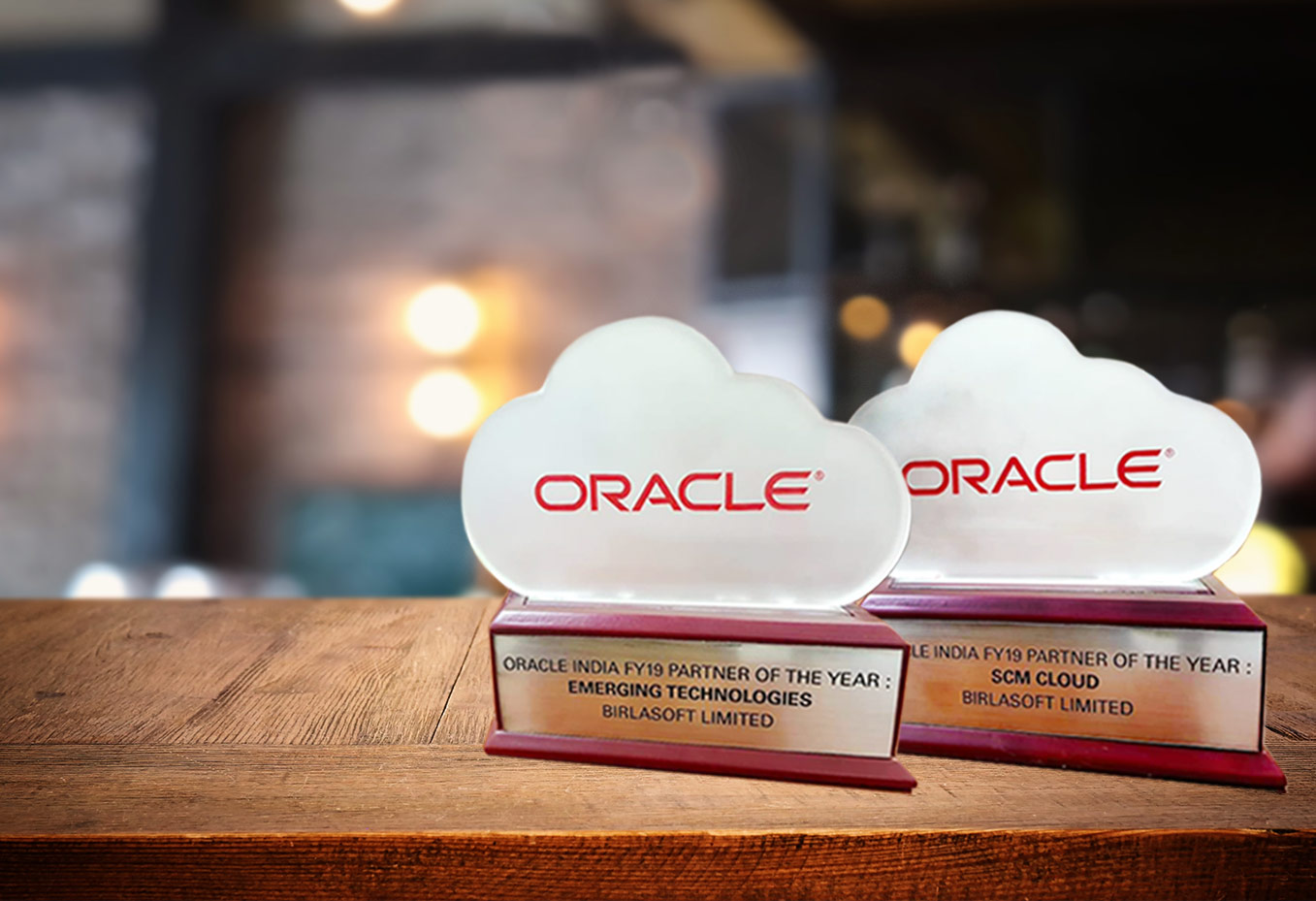 Two Major Awards at the Oracle India Partner Forum FY19