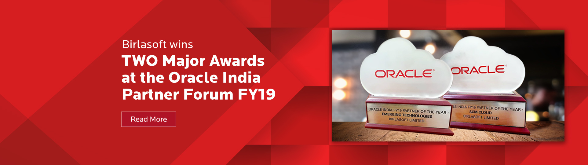 Birlasoft wins two major awards at the Oracle India Partner Forum FY19