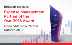 Birlasoft receives 'Expense Management Partner of the Year 2018' Award at the SAP India Partner Summit 2019