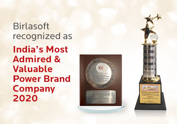 Birlasoft recognized as India's Most Admired & Valuable Power Brand Company 2020
