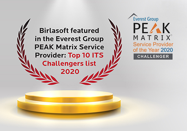Birlasoft featured in the Everest Group PEAK Metrix Service Provider: Top 10 ITS Challenge list 2020