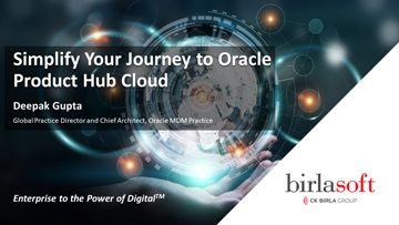 Simplify your journey to the Cloud with Oracle Product Hub Cloud