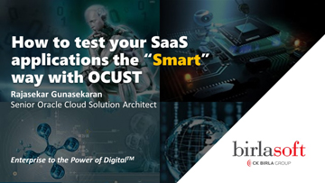 How to test your SaaS Applications the Smart Way with OCUST